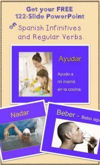 Free 122-slide PowerPoint on Spanish Verbs and Infinitives.
