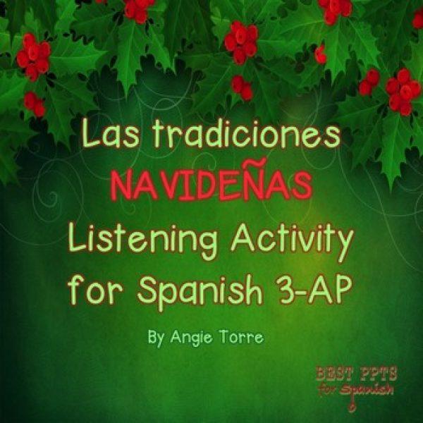 Las tradiciones navideñas Listening Activity for Spanish 3-AP