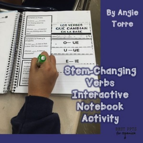 Spanish Stem-Changing Verbs Interactive Notebook Activities and Printables