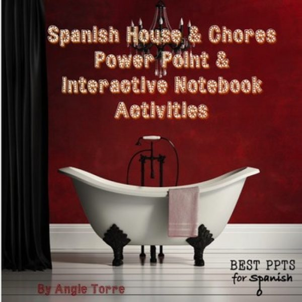 Spanish House and Chores PowerPoint and Interactive Notebook Activities