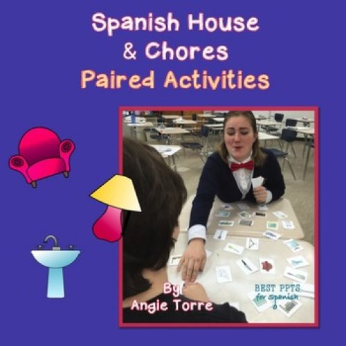 Spanish House and Chores Speaking & Listening Paired Activities