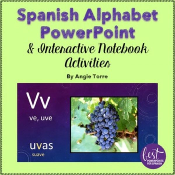 Spanish Alphabet PowerPoint and Interactive Notebook Activities
