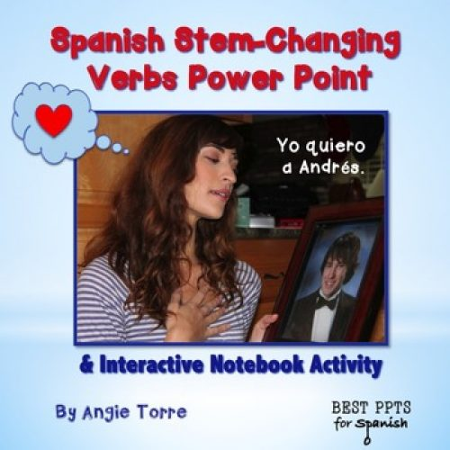 Spanish Stem-changing Verbs PowerPoint and Interactive Notebook Activities