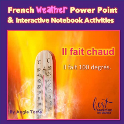 French Weather PowerPoint and Interactive Notebook Activities