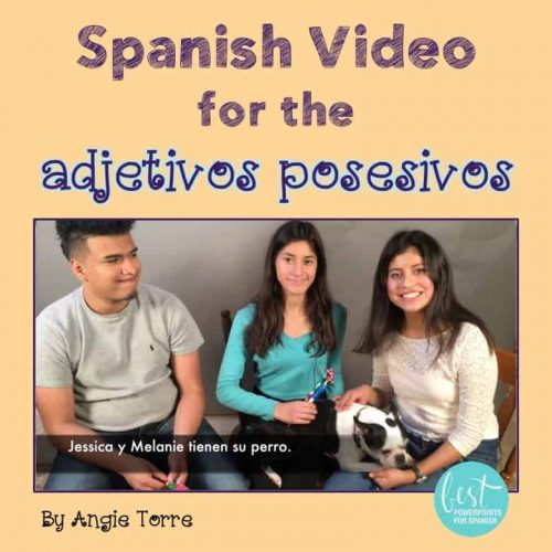 Spanish Possessive Adjectives Video