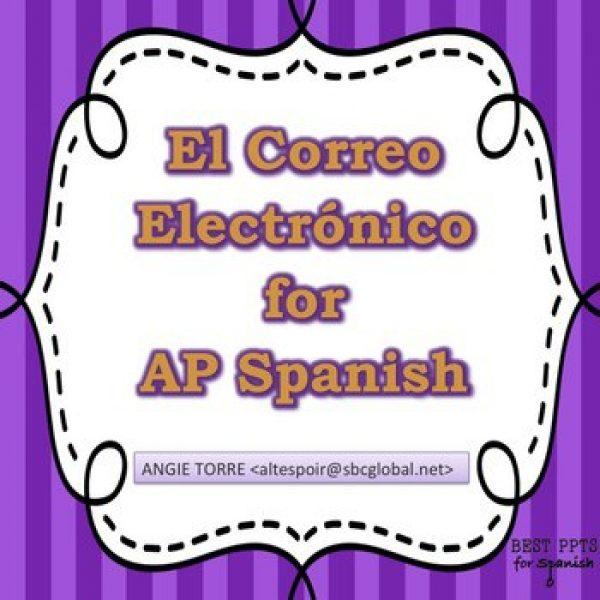 El correo electrónico PowerPoint and Handouts for AP Spanish