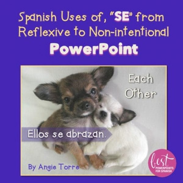 Spanish uses of se from Reflexive to Non-intentional PowerPoint