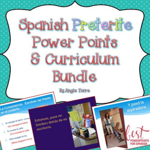 Spanish Preterite PowerPoints and Curriculum Bundle