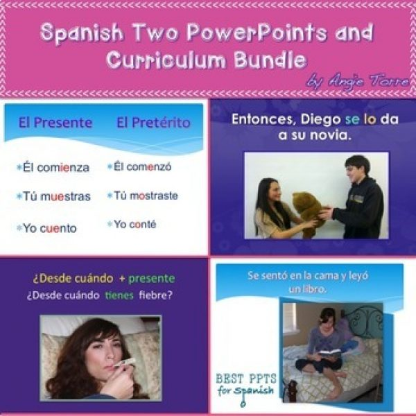 Spanish Two PowerPoints and Curriculum