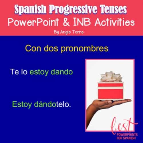 Spanish Progressive Tenses PowerPoint and INB Activities