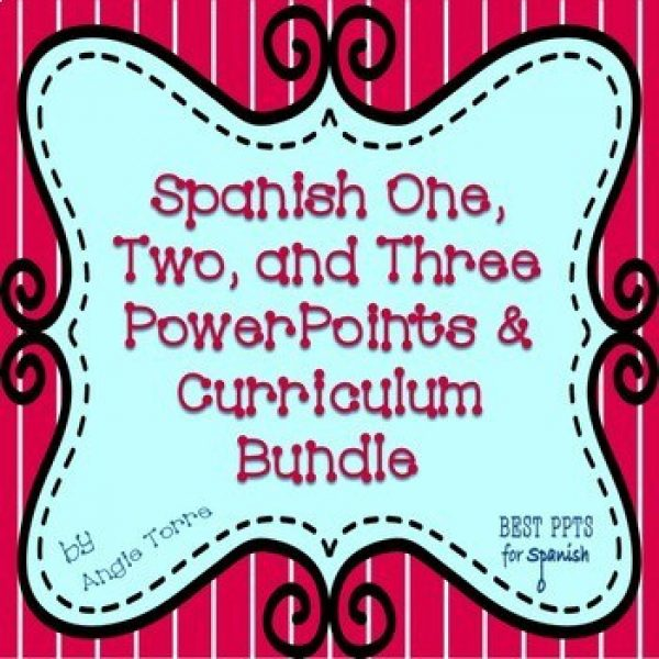 Spanish One, Two, and Three Curriculum