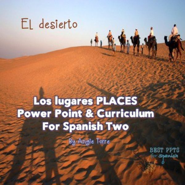 Spanish Places Los lugares PowerPoint and Curriculum