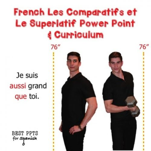 French Les Comparatifs et le Superlatif PowerPoint & Curriculum