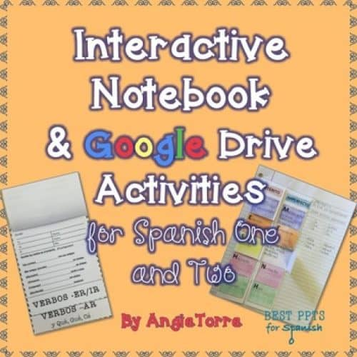 Spanish Interactive Notebook and Google Drive Activities for Spanish One and Two