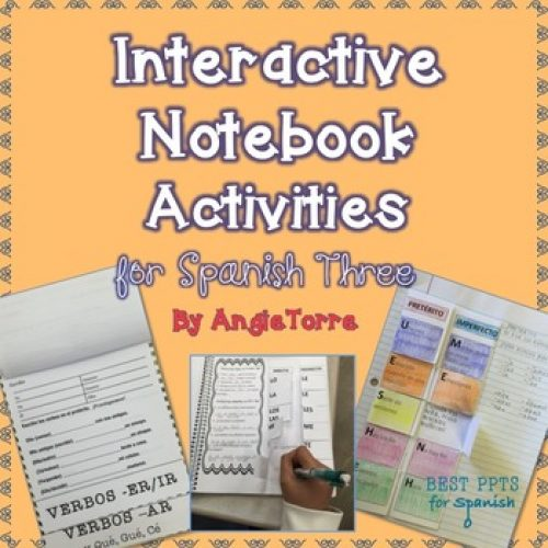 Interactive Notebook and Google Drive Activities for Spanish Three