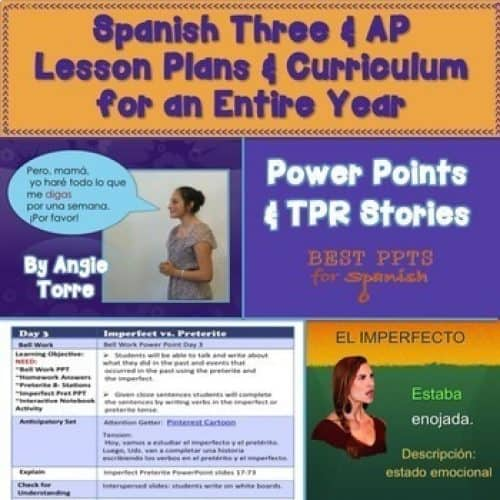 Spanish Three and AP Lesson Plans