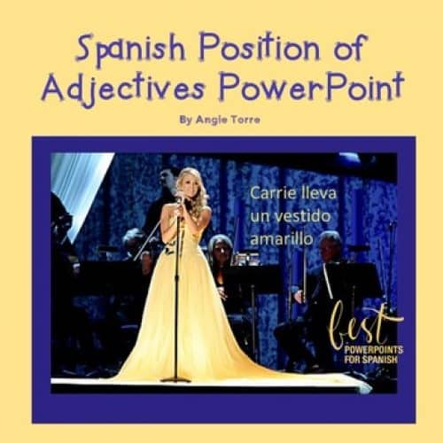 Position of Adjectives for Spanish One