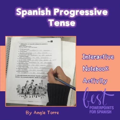 Spanish Interactive Notebook Activity for the Progressive Tense