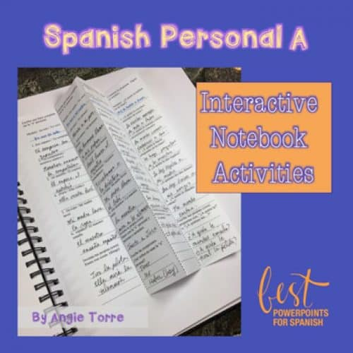 Spanish Personal A Interactive Notebook Activities