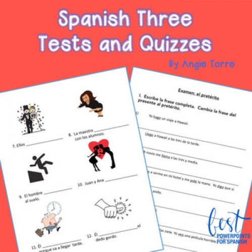 Spanish Three Assessments for an Entire Year