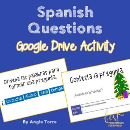 Spanish Questions Google Drive Activity