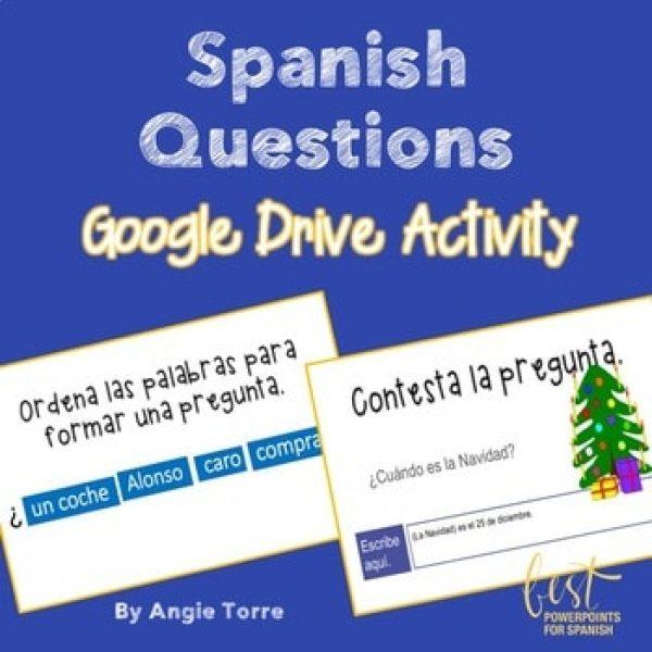 Spanish Questions Google Drive Activity