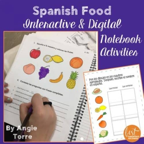 Spanish Food Interactive Notebook Activities