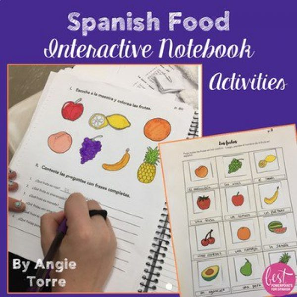 Spanish Food La comida Interactive Notebook Activities
