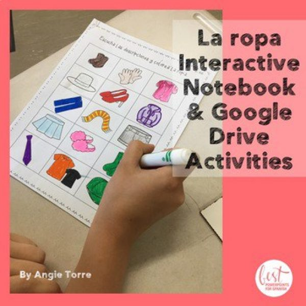 Spanish Clothing Interactive Notebook and Google Drive Activities