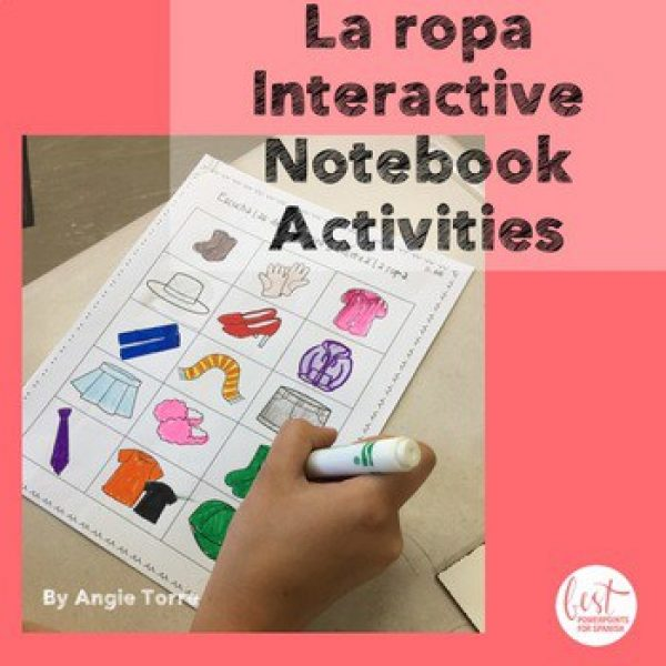 Spanish Clothing La ropa Interactive Notebook Activities