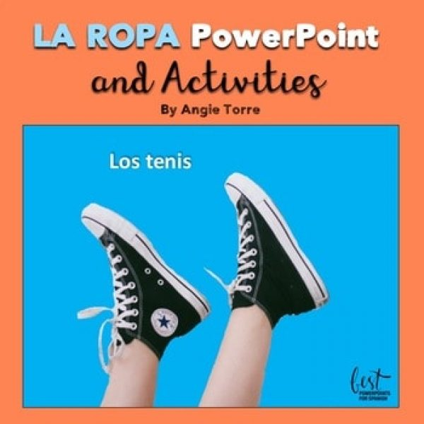 Spanish Clothing PowerPoint La ropa PowerPoint and Activities