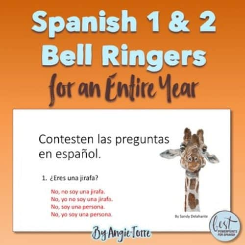 Spanish One and Two Bell Ringers
