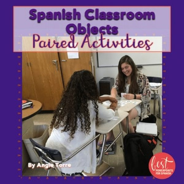 Spanish Classroom Objects Paired Activities