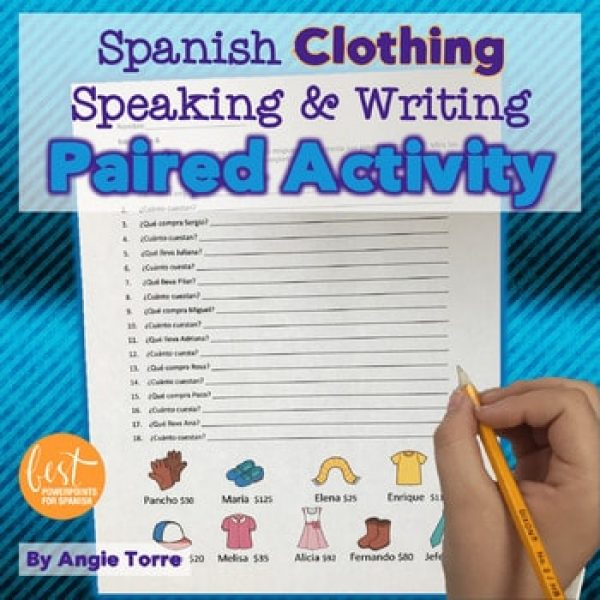 La ropa Paired Speaking Activity