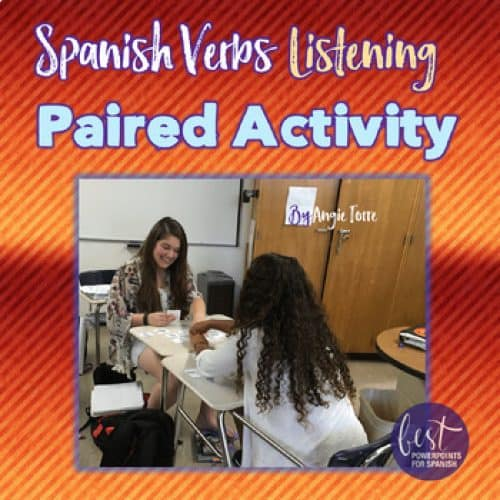 Spanish Verbs Paired Listening Activity