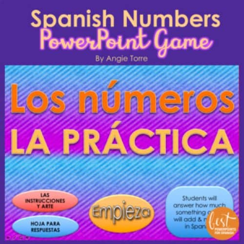 Spanish Numbers Game
