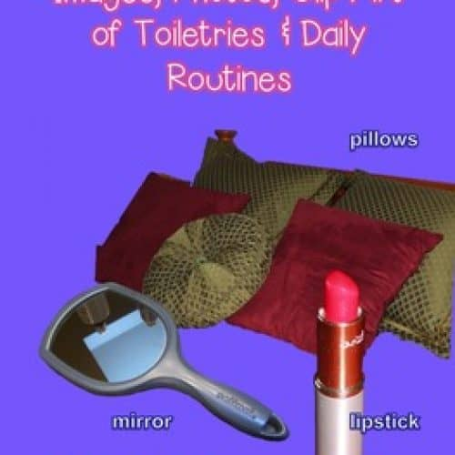 Clipart of Toiletries and Daily Routine