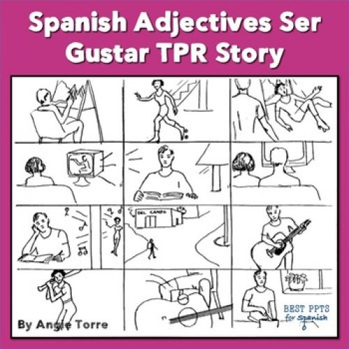 Spanish Adjectives Ser Gustar TPR Story