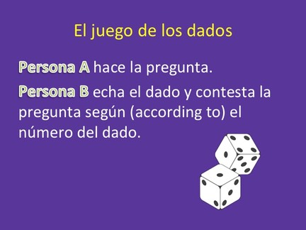 Spanish Go Verbs Paired Activity Dice Game