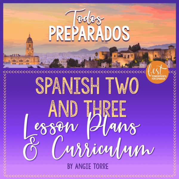 Spanish One and Two Lesson Plans and Curriculum