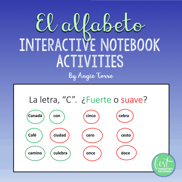 Spanish Alphabet El alfabeto Interactive Notebook Activities