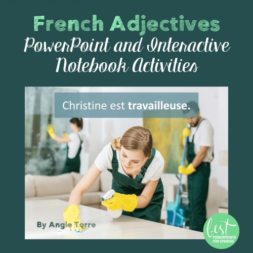 French Adjectives Les adjectifs PowerPoint and Interactive Notebook Activities