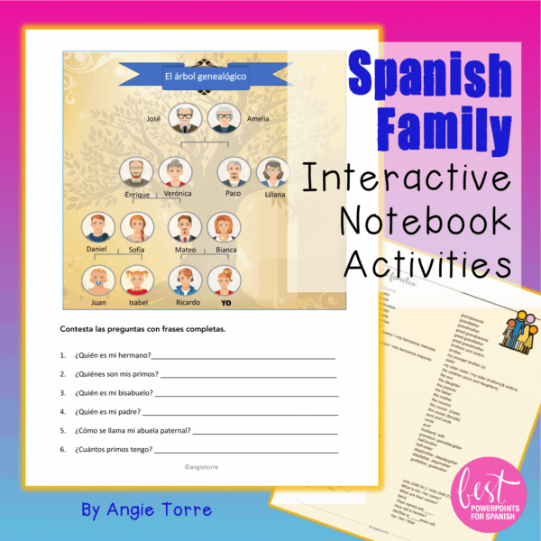 Spanish Family Interactive Notebook Activities