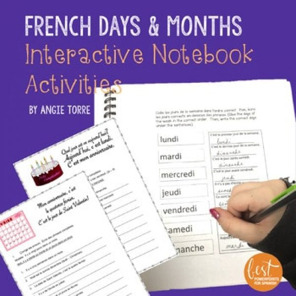 French Days and Months Interactive Notebook Activities