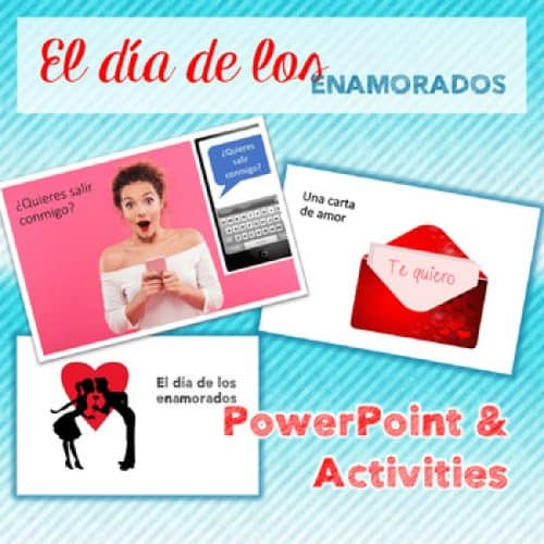 Spanish Valentine's Day El día de los enamorados PowerPoint and INB Activities