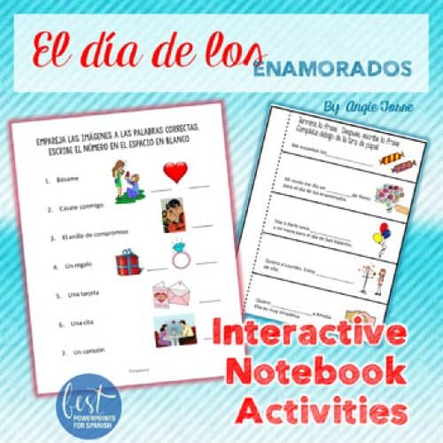 Spanish Interactive Notebook Activities: Valentine's Day San Valentín