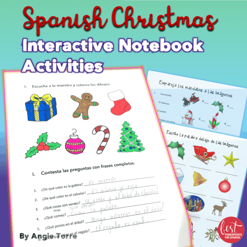 Spanish Christmas La Navidad Interactive Notebook Activities