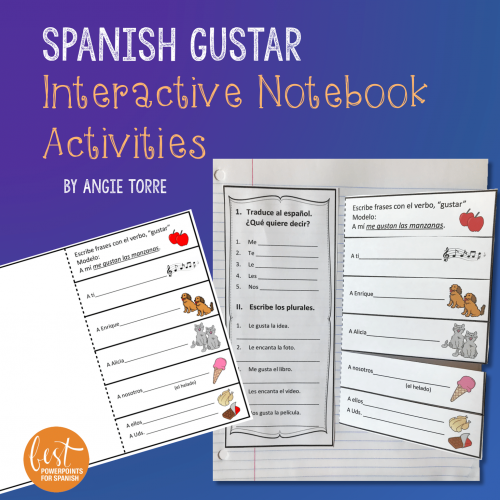 Spanish Gustar Interactive Notebook Activities