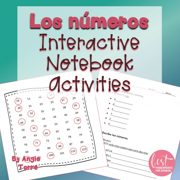 Spanish Numbers Los números Interactive Notebook Activities