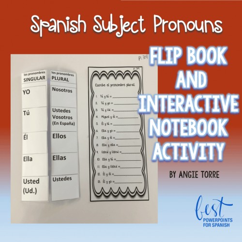 Spanish Subject Pronouns Foldable and Interactive Notebook Activity